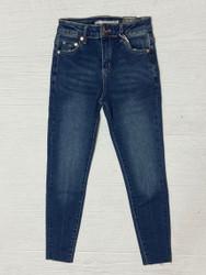 Tractr Indigo Frayed Hem High Rise Skinny Jean