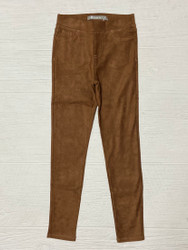 Tractr Camel Suede Pull On Pant