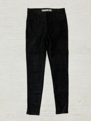 Tractr Black Suede Pull On Pant