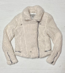 Tractr White Sherpa Jacket