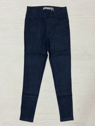 Tractr Navy Suede Sparkle Skinny Jean