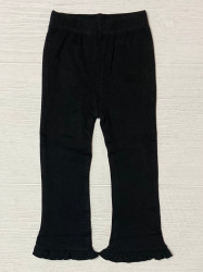 Lily Pads Black Ruffled Flare Pants