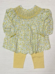 Honesty Yellow Floral Legging Set