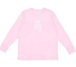 Honey Bee Tees Pink Ballet L/S Tee