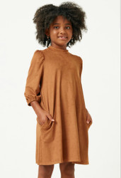 Hayden Camel Suede Dress with Pockets