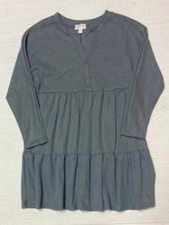 Hayden Olive Waffle Henley Dress