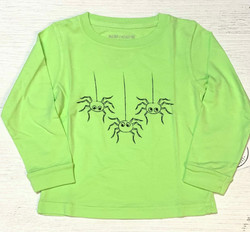 Mustard & Ketchup Kids Lime Spider L/S Tee