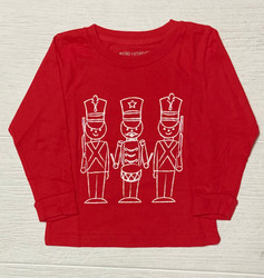 Mustard & Ketchup Kids Red Toy Soldiers L/S Tee