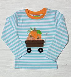 Be Mine Pumpkin Wagon Applique Shirt
