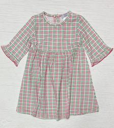 Ishtex Red/Green Plaid Girls Dress