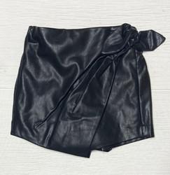 Habitual Girl Black Pull On Mock Wrap Skort