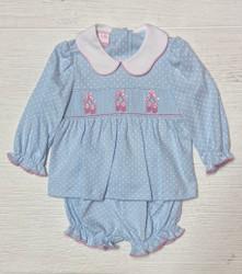 Petit Bebe Knit Ballet Slippers Bloomer Set