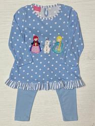 Claire & Charlie Ice Princess Applique Tunic Set
