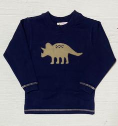 Lily Pads Royal Triceratops Crew Sweatshirt