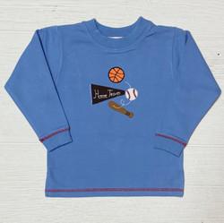 Lily Pads Chambray Sports Balls Crew Sweatshirt