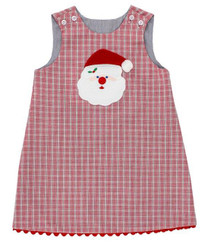 Bailey Boys Red Plaid Santa Reversible Jumper
