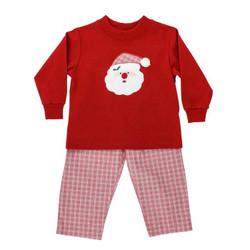 Bailey Boys Red Plaid Santa Boys Pant Set