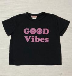 Tweenstyle Black Good Vibes Tee