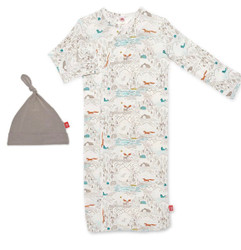 Magnificent Baby Big Sky Modal Gown & Hat