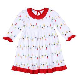 Magnolia Baby Holiday Lights Toddler Dress
