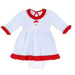 Magnolia Baby Santa Claus Dress with Bloomers