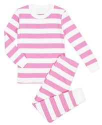 Sara's Print Pink Stripe PJ Set