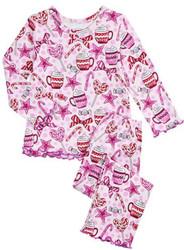 Sara's Prints Cocoa & Candy PJ Set