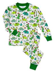Sara's Prints Christmas Dino PJ Set