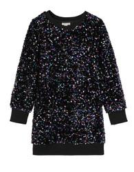 Habitual Tween Black Sequin Sweatshirt Dress