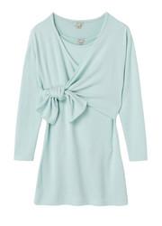Habitual Light Blue Wrap Tie Front Dress