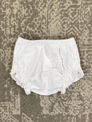 Lily Pads by Acvisa White Knit Girl Diaper Cover