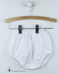 White Knit Boy Diaper Cover