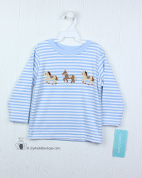 Claire & Charlie Horses Applique Shirt