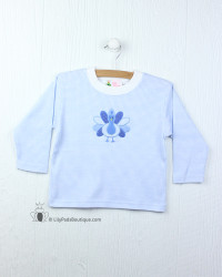 Lily Pads by Acvisa Blue Gingham Turkey L/S Tee