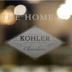 Kohler chocolates storefront logo