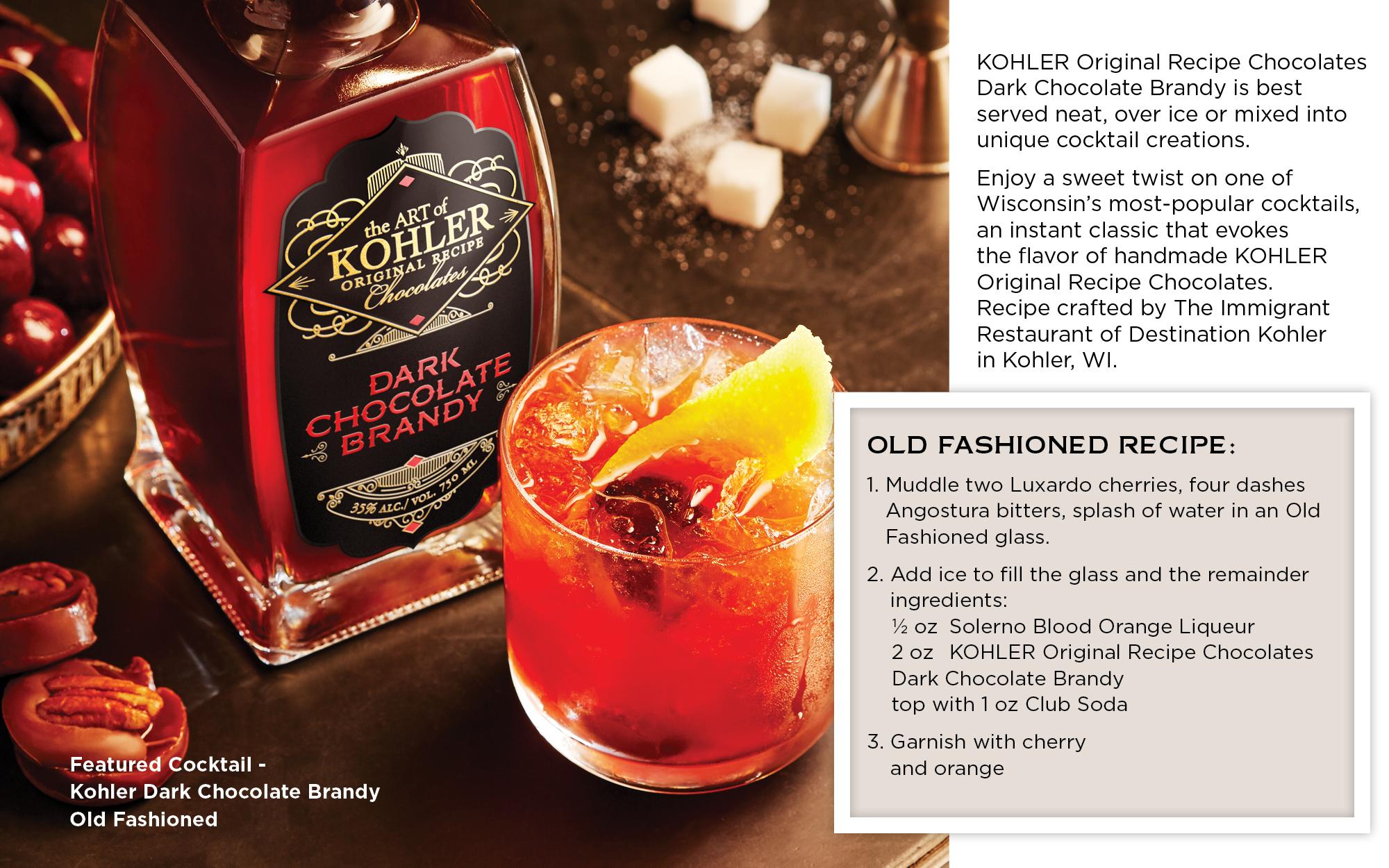 Kohler Original Recipe Dark Chocolate Brandy – Old Fashioned Recipe