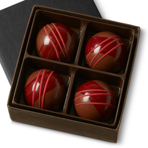 RASPBERRY GARDEN GANACHE Four Pieces in a gift box