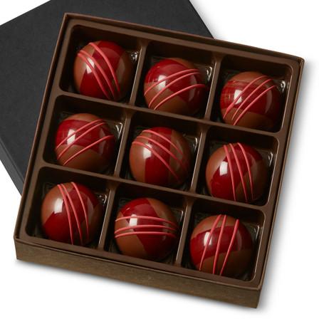 RASPBERRY GARDEN GANACHE Nine Pieces in a gift box