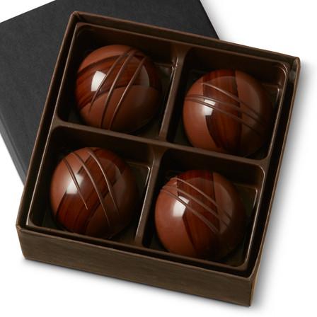 HAZELNUT COFFEE GARDEN GANACHE Four Pieces in gift box