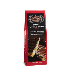 DARK TOFFEE BARK Four Ounces