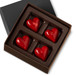 DARK CHOCOLATE HEARTS Four Pieces in a gift box