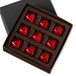 DARK CHOCOLATE HEARTS Nine Pieces in a gift box
