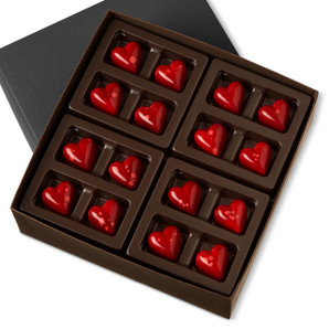 DARK CHOCOLATE HEARTS Thirty-Two Pieces
