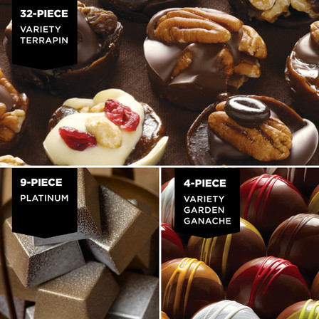 A terrific blend of chocolates for any season.