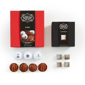 Includes: FORE! Gift Set – Four Terrapins and Three Collectible Golf Balls and PLATINUM Four Pieces.