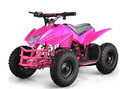 Kids Electric Battery Mini Outdoor Quad ATV 4 Wheeler  On ATV 24V Girls PINK