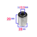 Metal and Rubber Bushing OD 28mm ID 12.5mm LENGTH 20mm