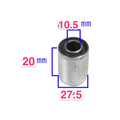 Metal and Rubber Bushing OD 27.5mm ID 10.5mm LENGTH 20mm