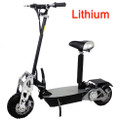 2017 Super Turbo LITHIUM 1200 watt CHROME Electric Scooter