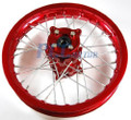 "12"" RED REAR RIM WHEEL CNC HUB HONDA CRF50 110 125 SDG"
